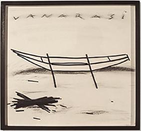 Noël Cuin, «Sans titre (vanarasi)», 2007, Fusain sur vergé, 52 x 52 cm, Courtesy of the artist & Farideh Cadot