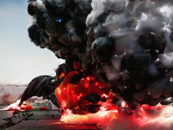 Explosion with Road lr,  2012, Courtesy de l'artiste de la galerie Farideh Cadot