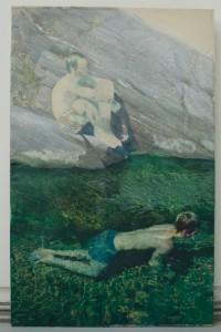 Alexandre Lenoir, Les Cévennes, 2014, acrylique sur toile, 309x197 cm, courtesy Farideh Cadot & the artist