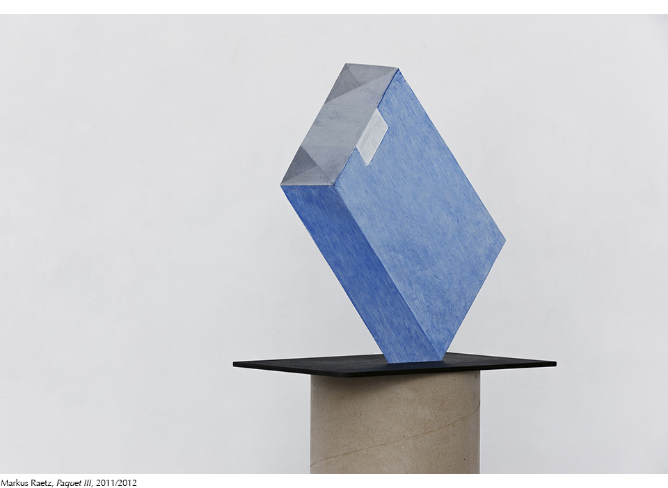 Markus Raetz, Paquet III, 2011/2012, courtesy Farideh Cadot & the artist