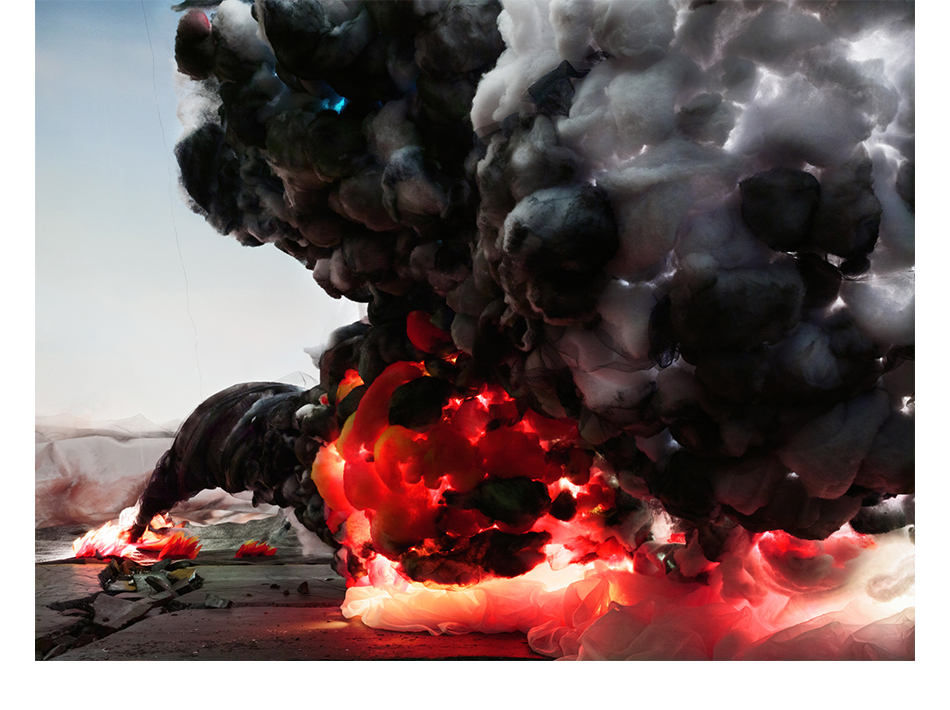 Shirley Wegner, Explosion with Roads, 2012, courtesy of the artist and the gallery Farideh Cadot