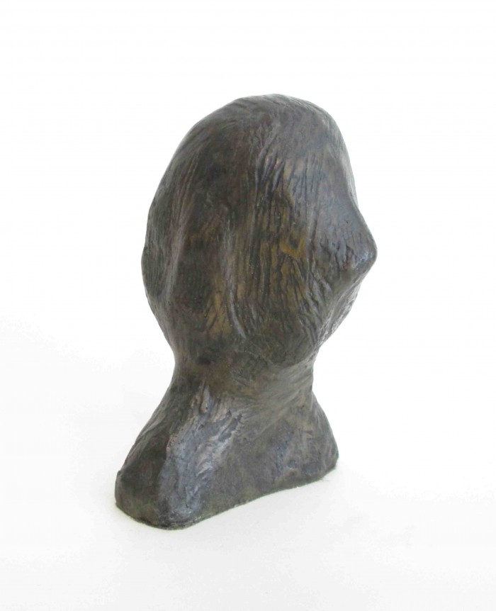 Joel Fisher, Study For ... (Portrait of Edith Sitwell), 1999, bronze, 28 x 12 x 13 cm, courtesy Farideh Cadot & the artist