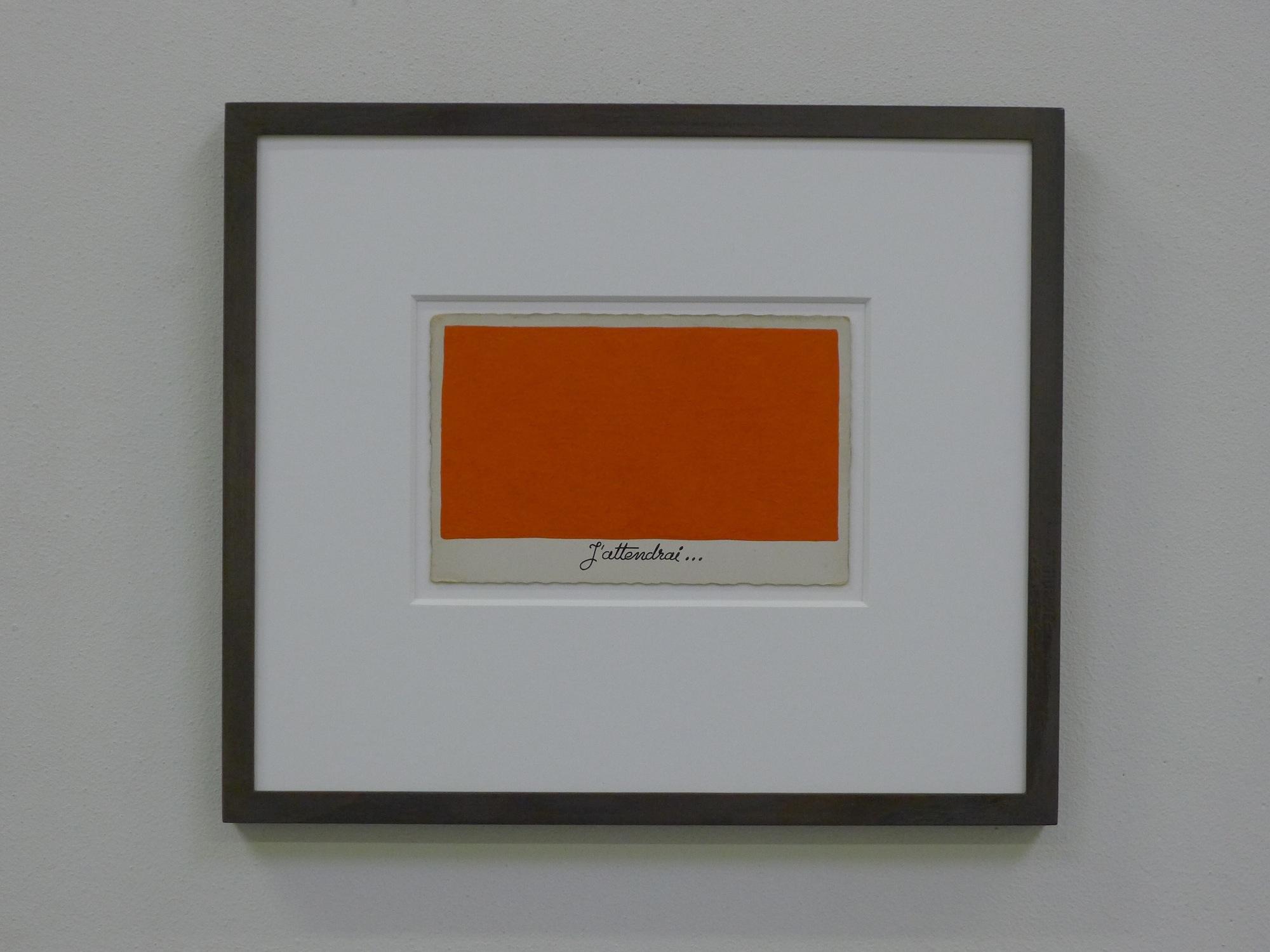 Pieter Laurens Mol, J'attendrai, 1984, peinture à plomb sur photo noir & blanc, 24 x 28 cm, courtesy Farideh Cadot & the artist de la galerie Farideh Cadot et de l'artiste